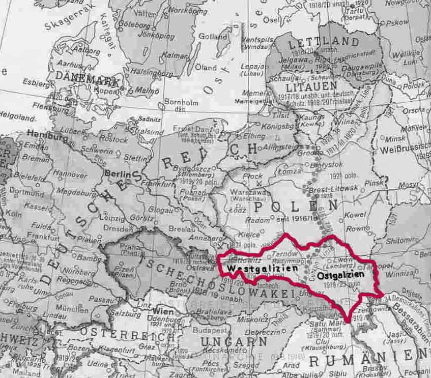 Galizien Karte.Karten